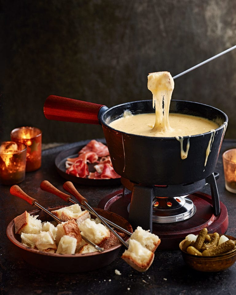 The ultimate swiss cheese fondue