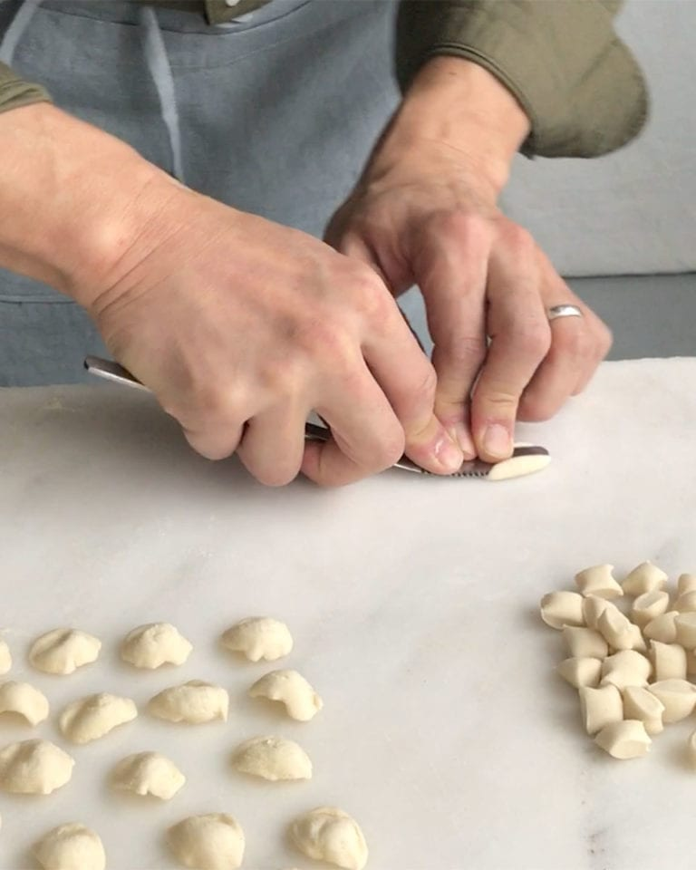How to shape orecchiette pasta – video