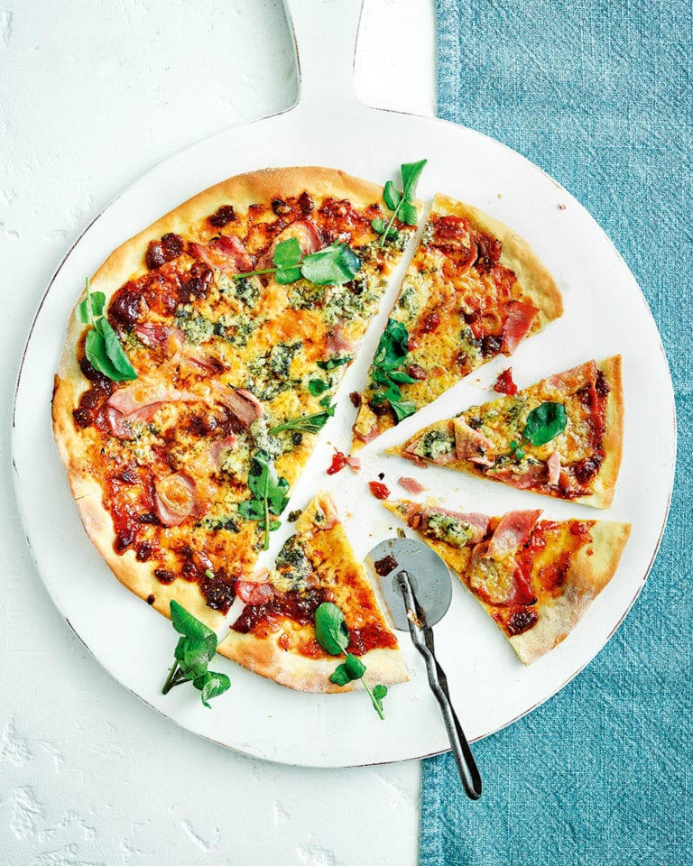Ploughman's pizza