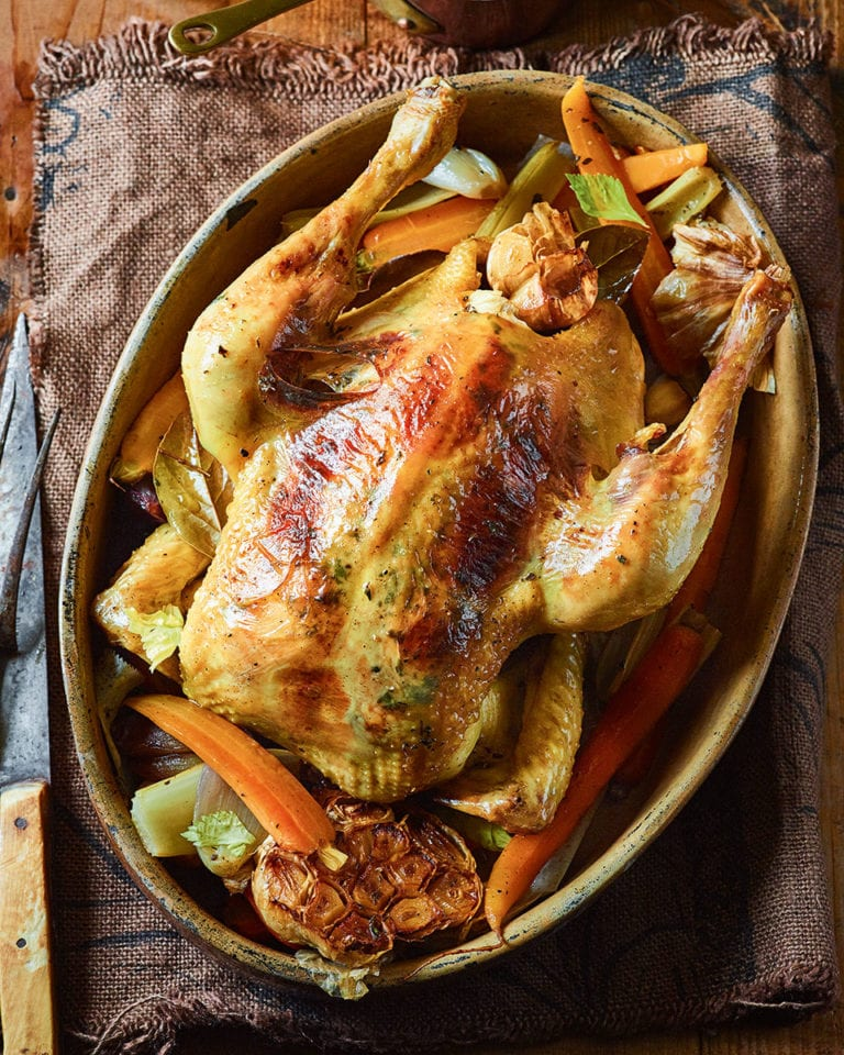 Honey Cider And Thyme Pot Roast Chicken Recipe Delicious Magazine