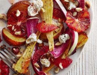Roast roots and blood orange salad