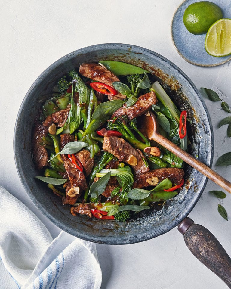 Thai ginger beef stir-fry