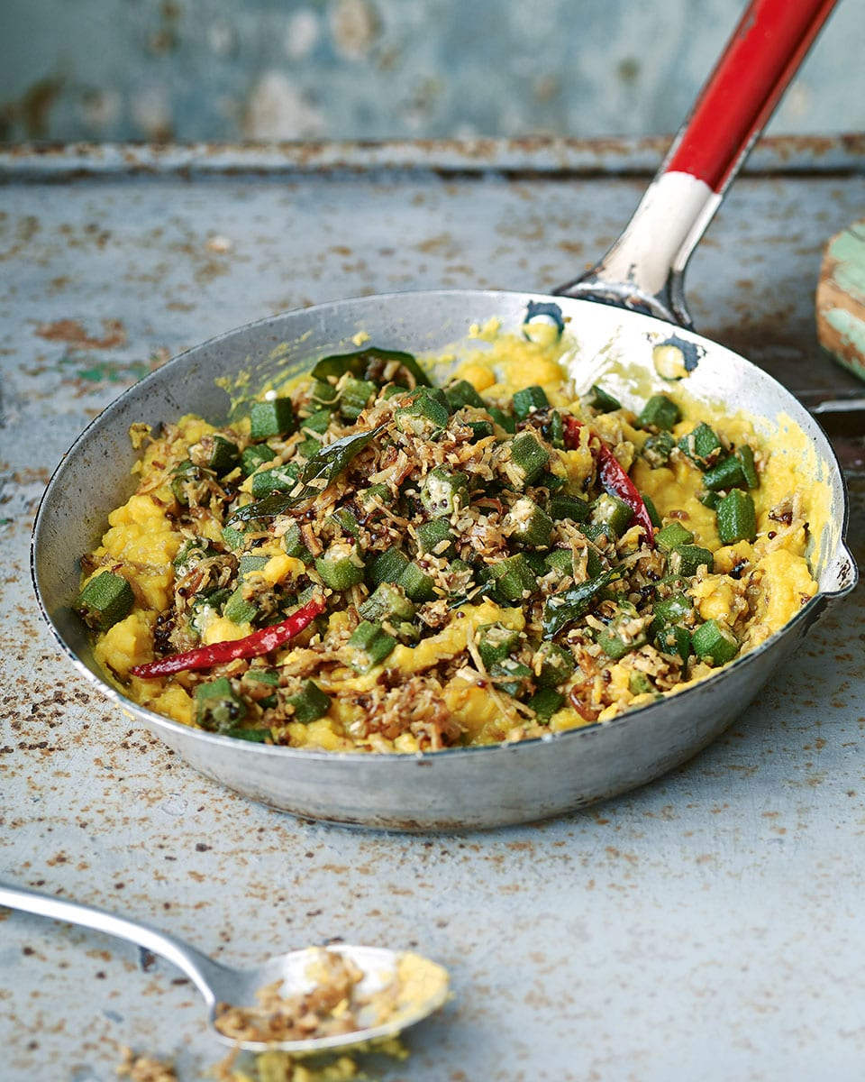 Chana Dal With Okra And Coconut Recipe Delicious Magazine