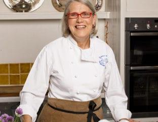 Darina Allen in the kitchen