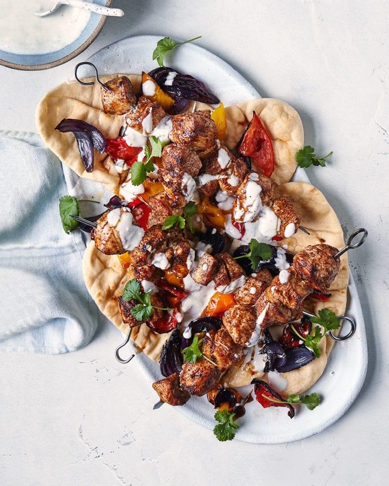 Chicken shawarma kebabs