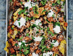 Sweet potato chilli nachos