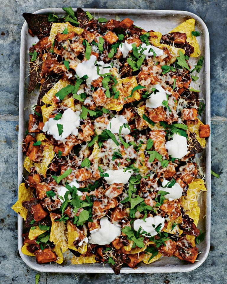 Sweet potato chilli nachos