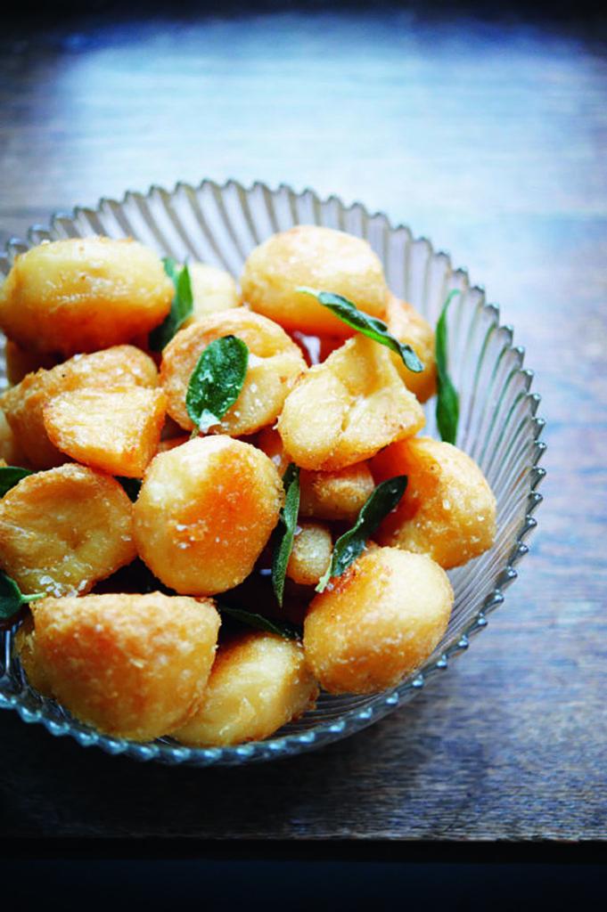 Goose fat potatoes
