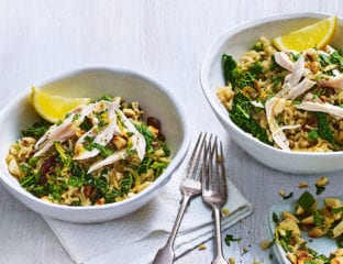 Chicken and greens pilaf
