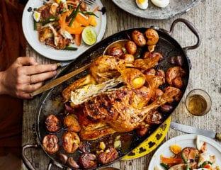 Roast chicken gado gado