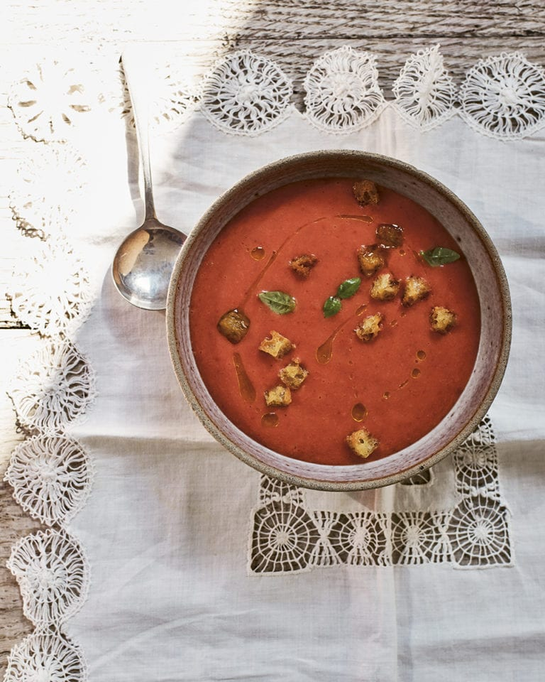 José Pizarro's strawberry gazpacho