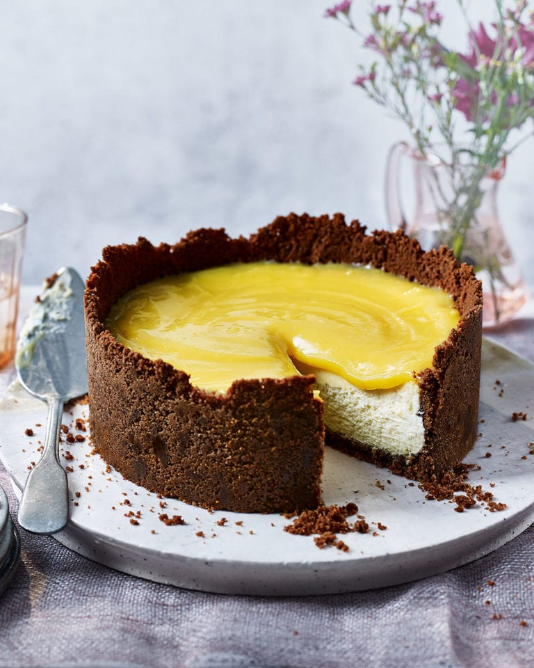 White chocolate and limoncello cheesecake