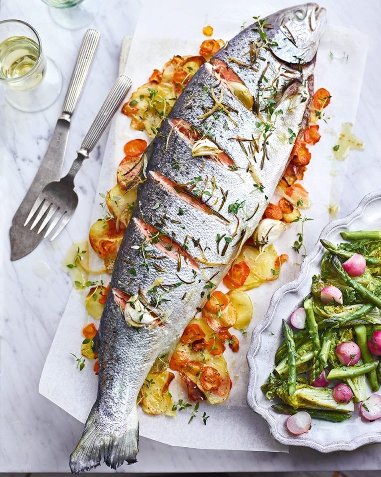 Raymond Blanc's whole roast salmon