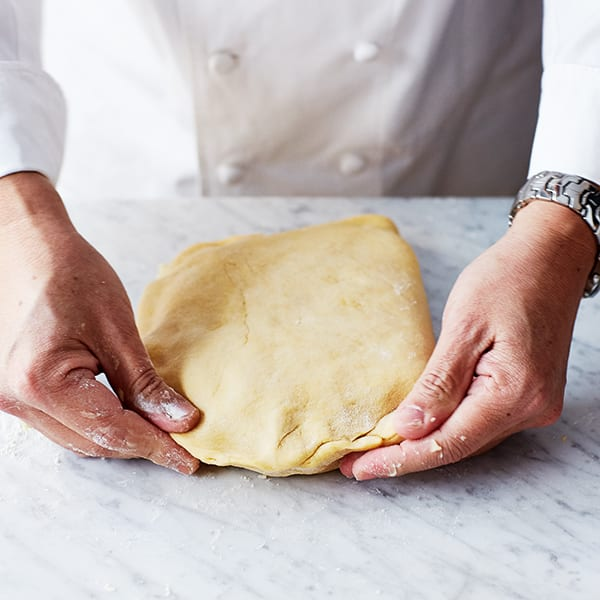 press down dough
