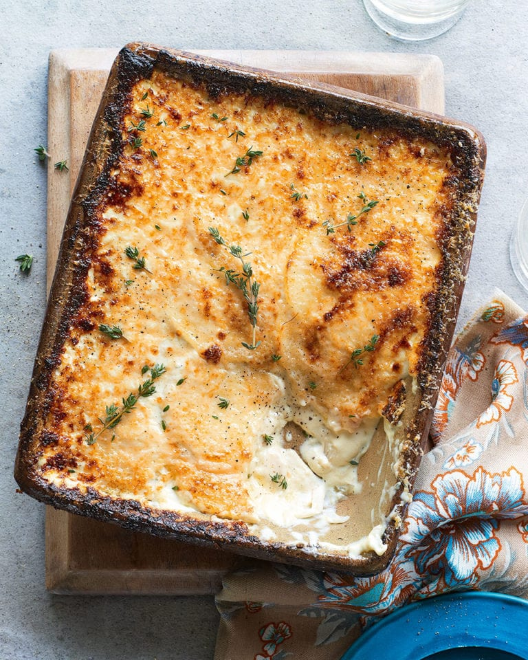 Fennel, taleggio, potato, parmesan and thyme gratin
