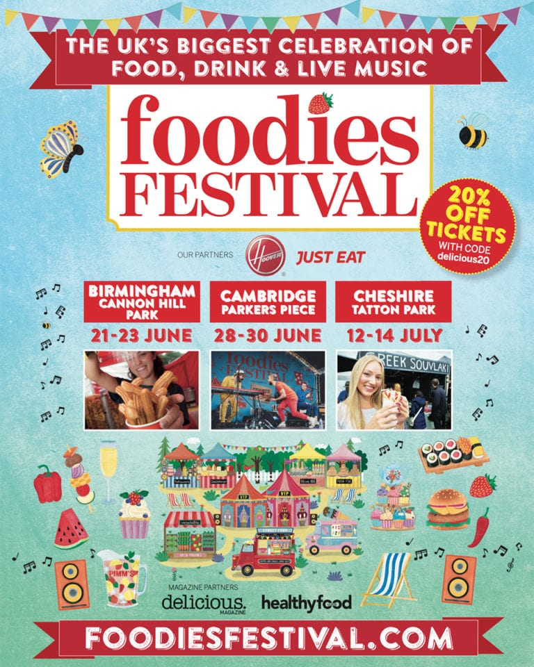 Visit a Foodies Festival this summer – and get 20% off ticket price