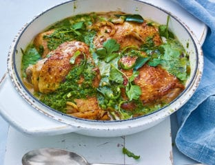 Zesty lime, coriander and coconut chicken curry