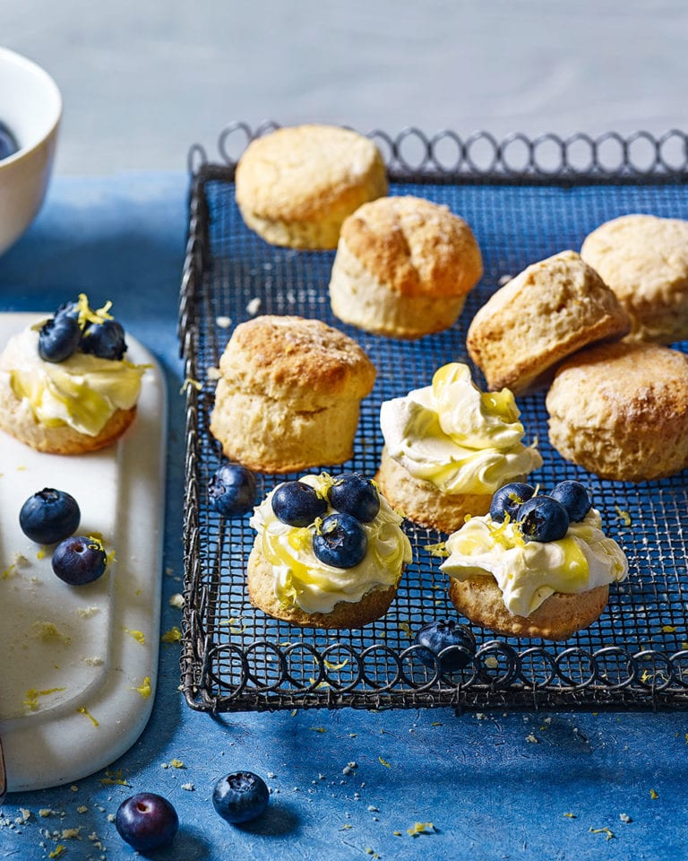 Limoncello and blueberry scones