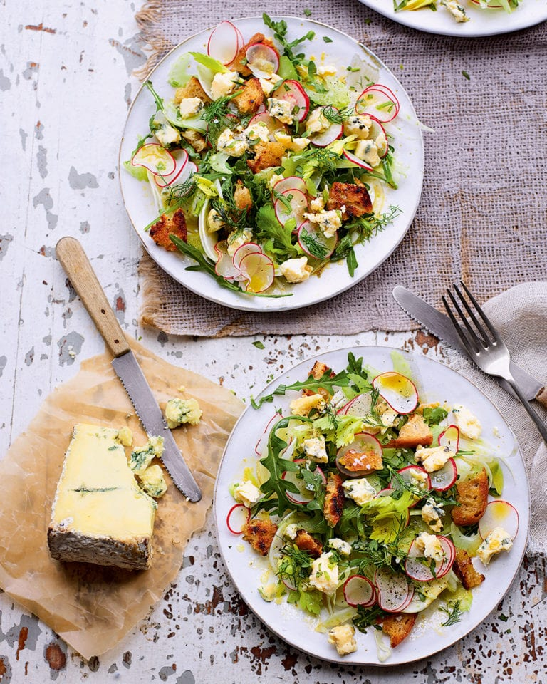 Blue cheese, fennel and radish salad