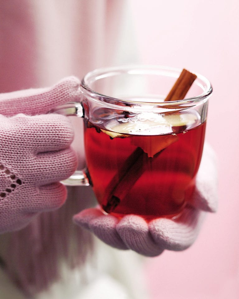 Spiced berry hot toddy