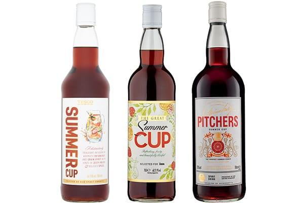 Supermarket summer cup bottles