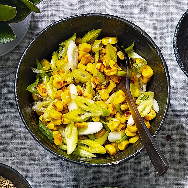 sweetcorn and spring onion