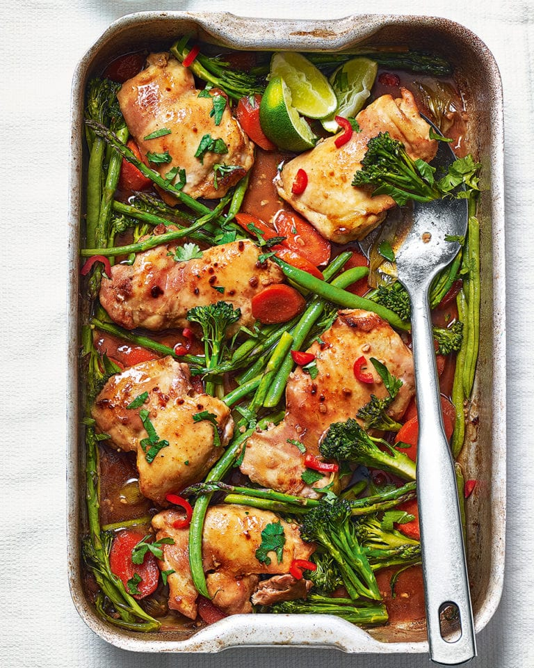 Roast teriyaki chicken traybake