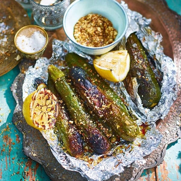 BBQ courgettes