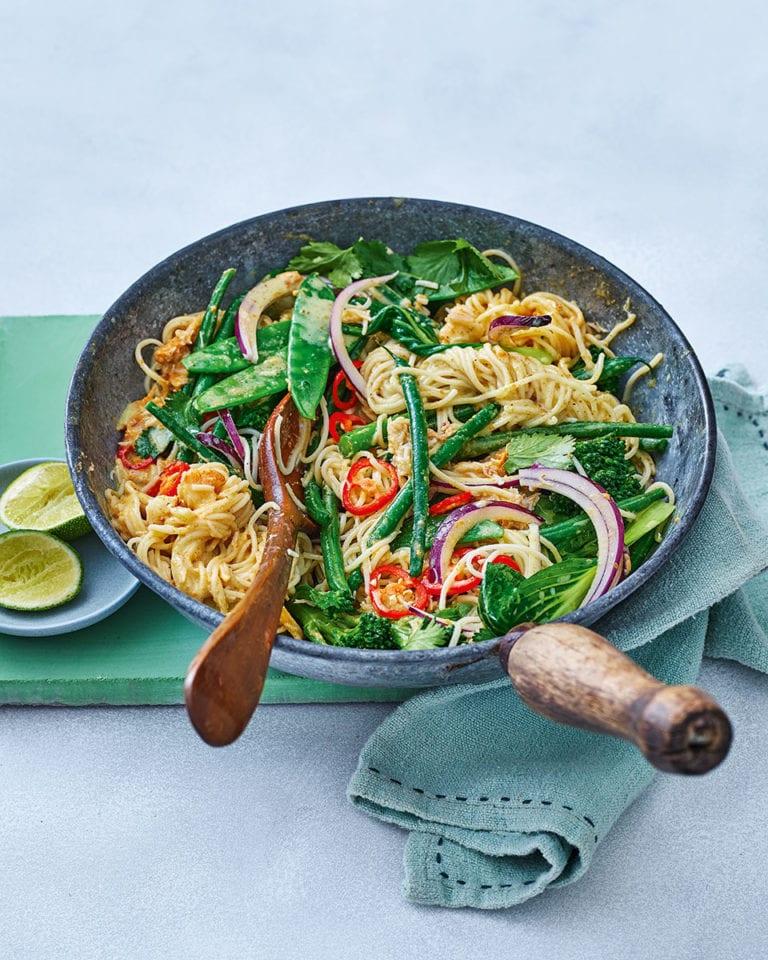 Singapore-style crab noodles