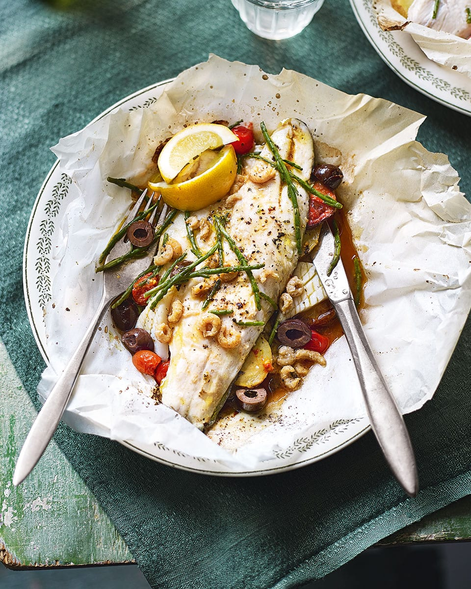 Fish Baked En Papillote Recipe Delicious Magazine