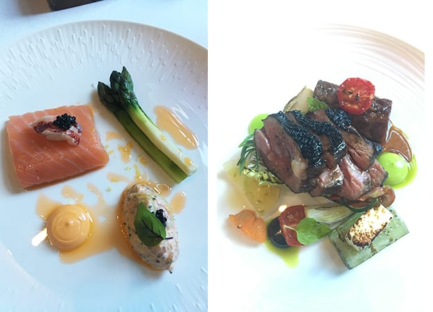 food at Dower House restaurant
