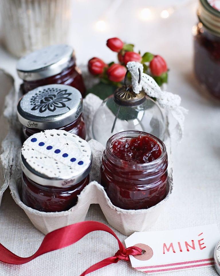 Christmas cranberry jam