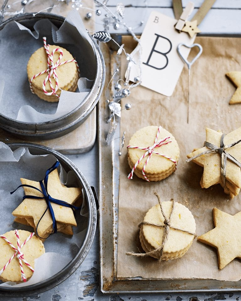 Homemade Christmas shortbread