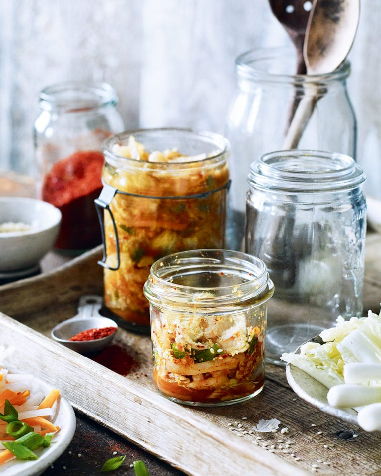 Cabbage and carrot kimchi