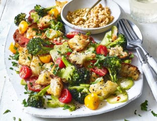Broccoli and walnut panzanella