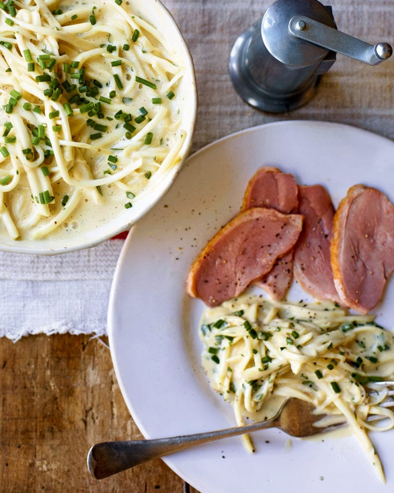 Smoked duck breast with celeriac remoulade