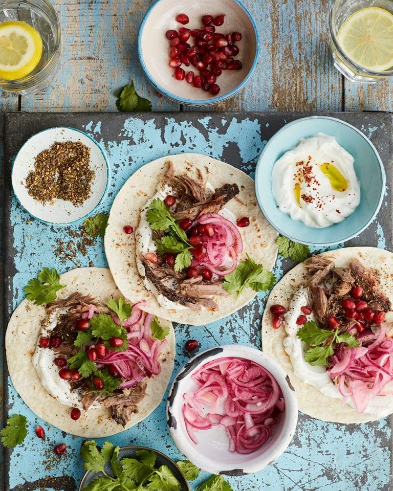 Za'atar-spiced lamb tacos