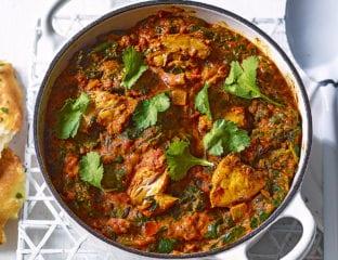 Freezer-friendly chicken and spinach tikka masala