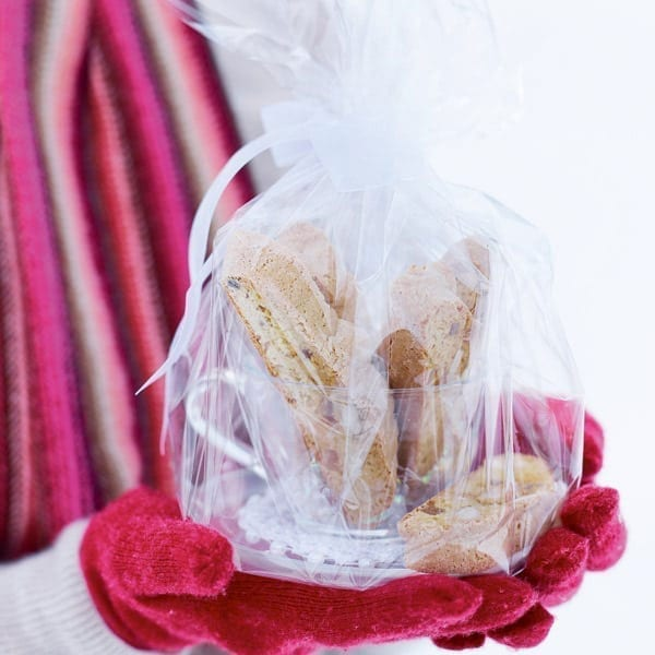 two biscotti biscuits