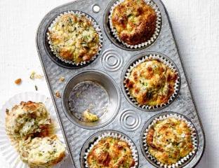 Courgette and grana padano muffins