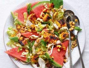 Korean-style sweetcorn salad