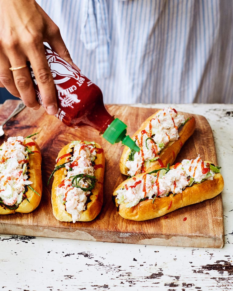 Quick crab rolls