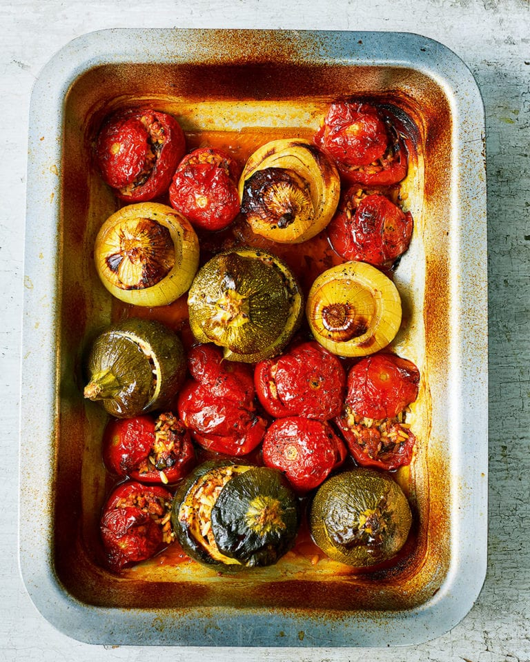 Gemista (roast stuffed veg)