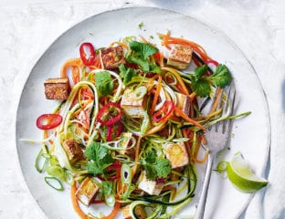 Chilli tofu veg 'noodles'