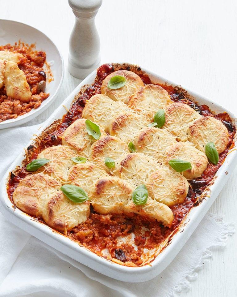 Roman-style gnocchi with sausage ragù
