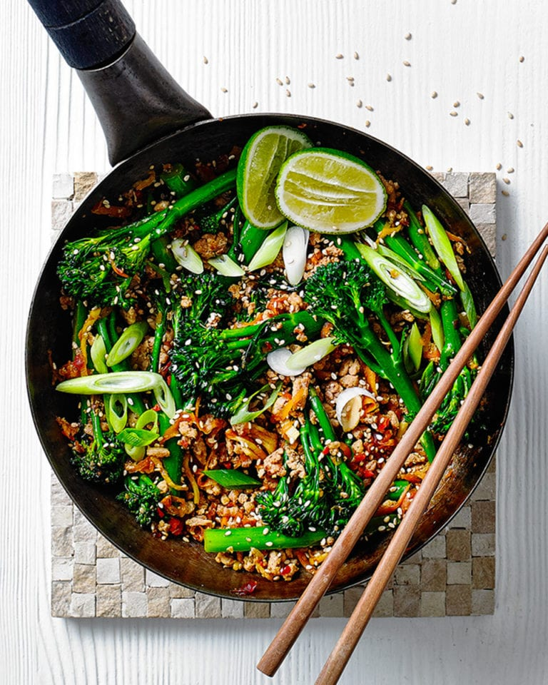Speedy chilli turkey stir-fry