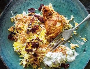 Dishoom's chicken berry Britannia (biryani)