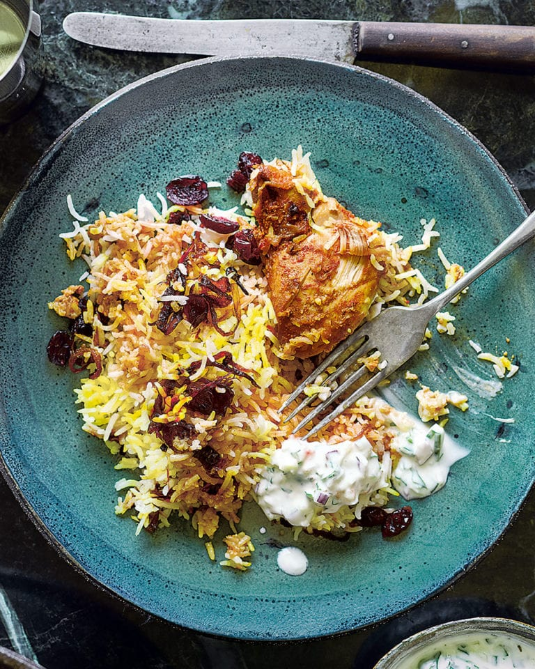 Dishoom's chicken berry Britannia (biryani)