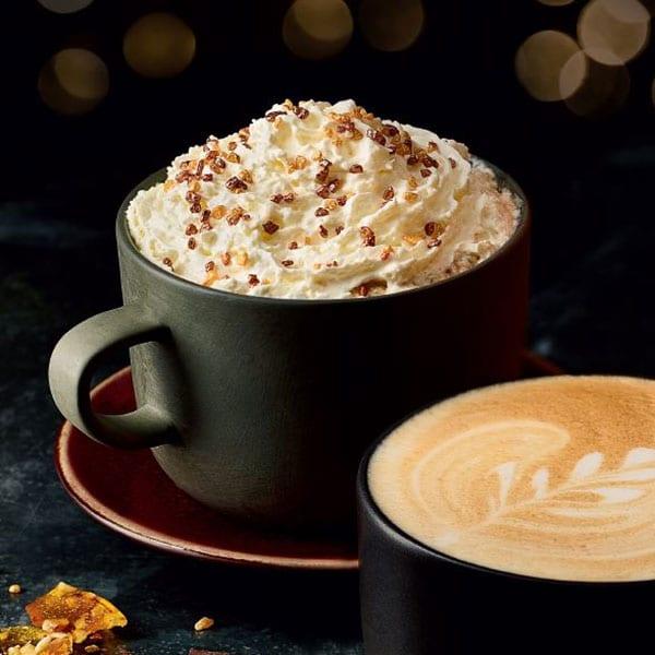 M&S praline and cream latte