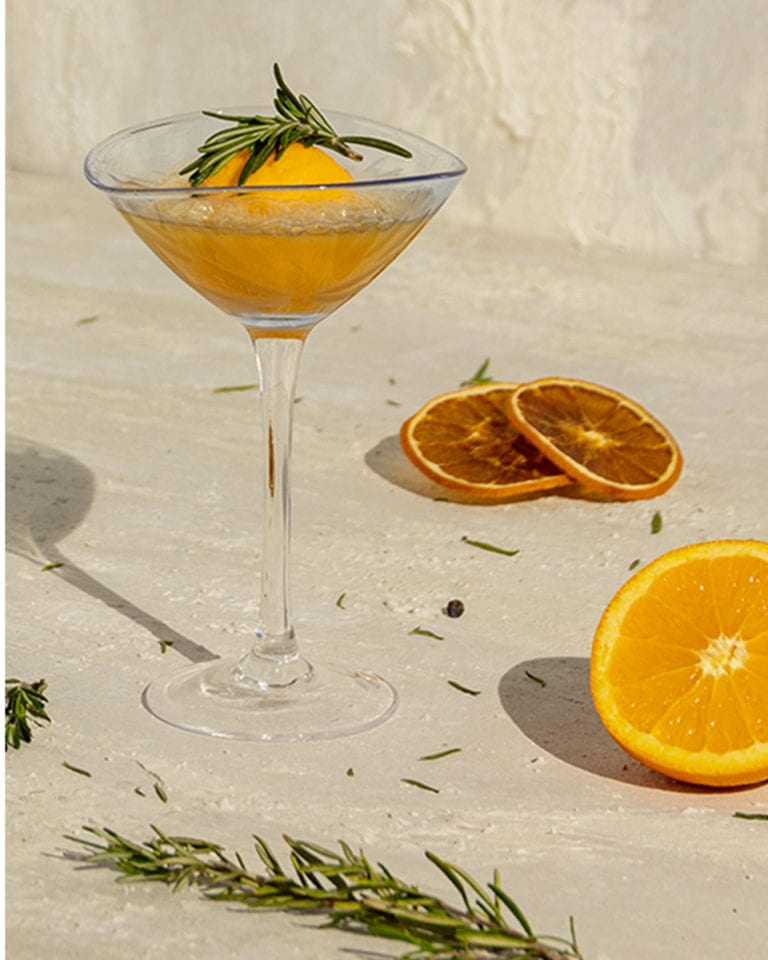Orange and rosemary sgroppino